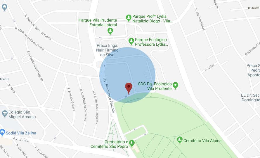 Crematório Vila Alpina - Localização