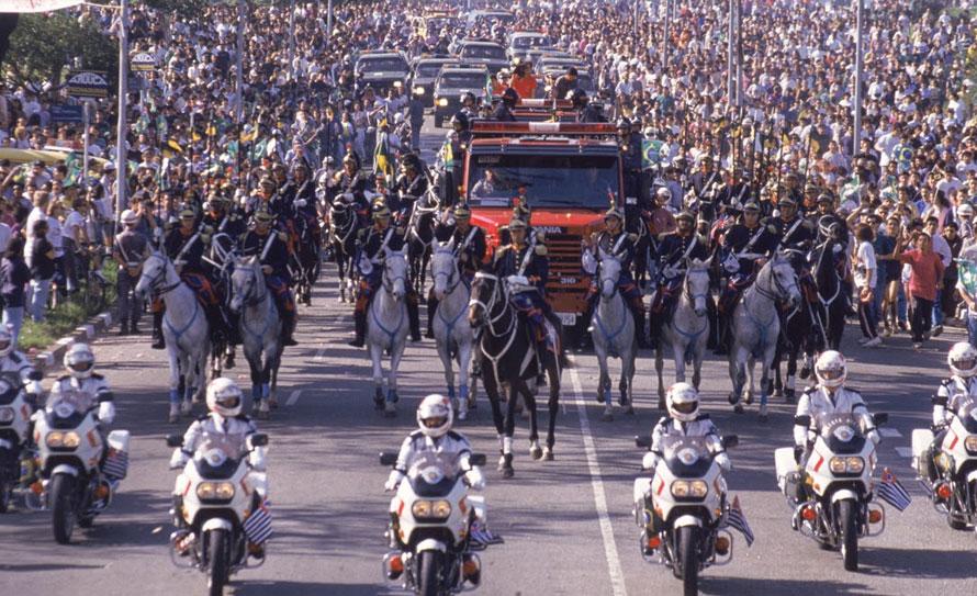 Enterro Ayrton Senna